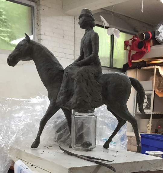 In progress, a small work in clay, for Sally Farnham.